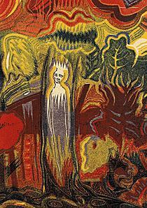 Josef Váchal: Prales (Duše lesa), linoryt, 1921