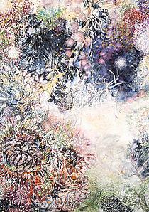 Karin Pliem: Concurus naturae III, olej na plátně, 2015