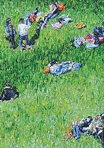 Katharina Dietlinger:  Piknik, olej na plátně, 2009