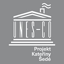 UNES-CO logo šedé