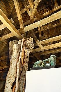 Sochy a objekty v renesančním půdním prostoru, Dagmar Pátková (1933-2007), Ladislav Fládr (1935-2007), 28.6. - 31.7.2008