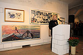 Opening of the exhibitions on HUMOUR IN ART, 5.4.2012 - Gerald Scarfe (b. 1936), Josef Florian Krichbaum (b. 1974), Vladimír Jiránek (b. 1...