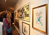 Eröffnung der Ausstellungen, 5.4.2012 - Gerald Scarfe (geb. 1936), Josef Florian Krichbaum (geb. 1974), Vladimír Jiránek (geb. 1938), Ji�...