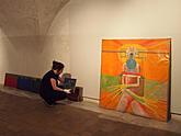 Fotografie z instalace výstavy prof. Jiřího Sopka